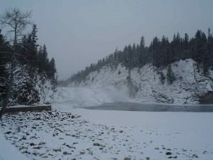 Bow Falls in Winter - December 2006