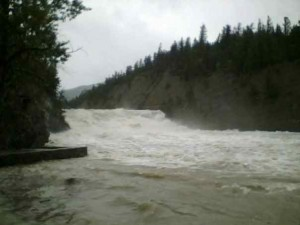 Bow Falls, Banff - June 2007 Flood