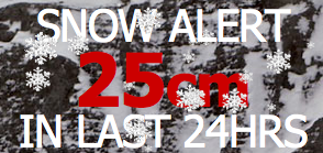 Sunshine Village Banff received 25cm in the last 24 hours