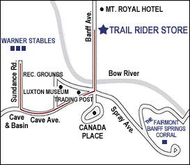 start locations - warner stables and the banff springs corral
